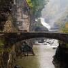 The Bridge at Lower Falls Lecthworth