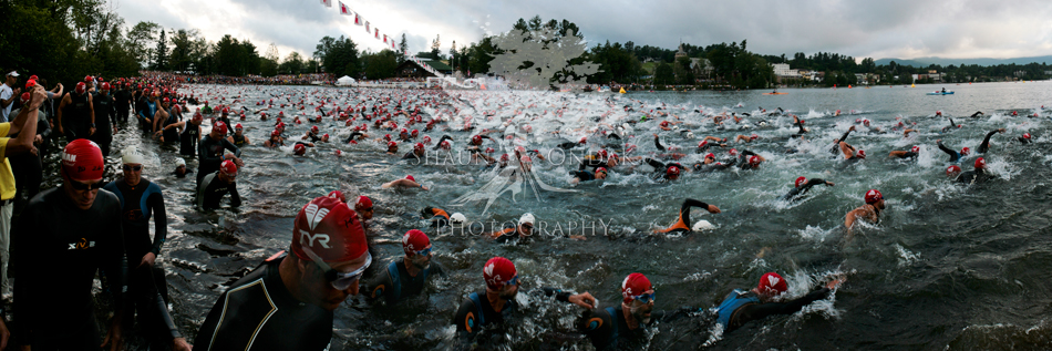 Ironman Lake Plaicd 2010 Swim Start - shaun ondak