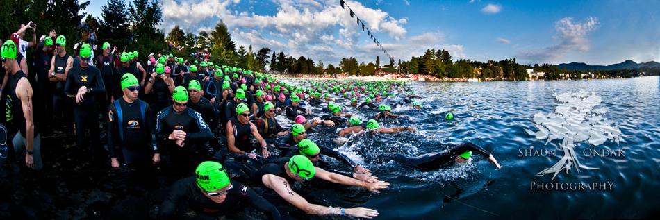 Lake Placid - Ironman Swim Start 2012 - Shaun Ondak