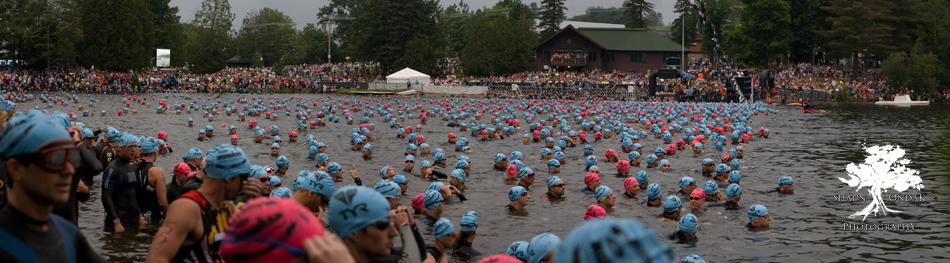 Ironman Lake Plaicd 2008 Swim Start - shaun ondak